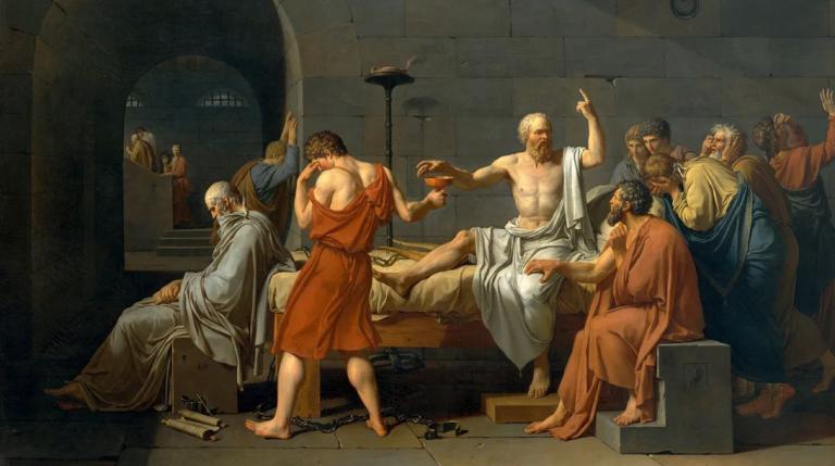 Sokratesin Ölümü (Fransızca La Mort de Socrate) - Jacques-Louis David - 1787