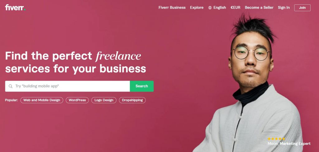 freelance çalışma platformu fiverr anasayfa