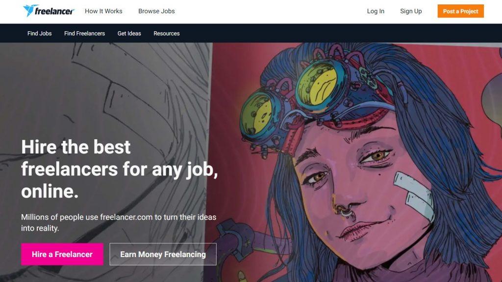 freelance çalışma platformu freelancer anasayfa