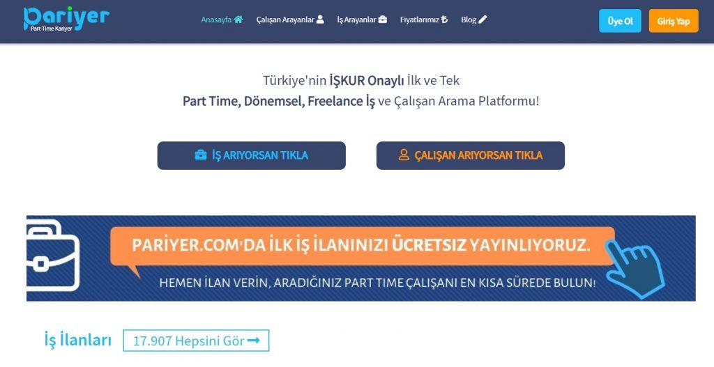 freelance çalışma platformupariyer anasayfa