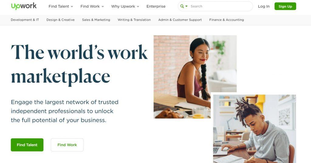 freelance çalışma platformu upwork anasayfa